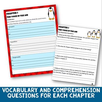 Mr. Popper's Penguins Novel Study and Literature Circle Packet- 3rd-5th Grades