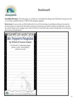 Mr. Popper's Penguins - Unit Study, Notebooking, Literature Guide