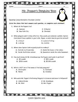 Mr. Popper's Penguins Unit Test