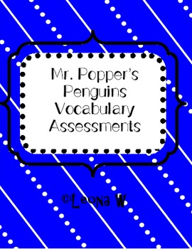 Mr. Popper's Penguins Vocabulary