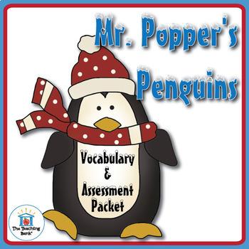 Mr. Popper's Penguins Vocabulary and Assessment Bundle
