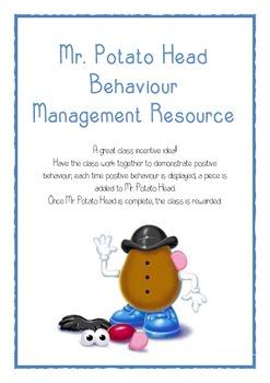 Mr. Potato Head Behaviour Management resource