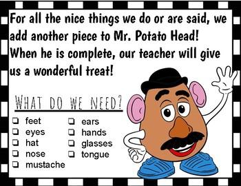 Mr Potato Head Classroom Managment