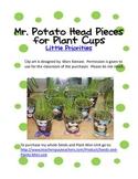 Mr. Potato Head Pieces for plant cups