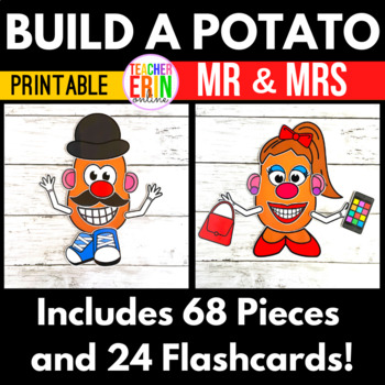 graphic relating to Mr Potato Head Printable Parts identified as Develop a Mr Mrs Potato Brain - Entire body Sections/Flash Playing cards - 5 Senses - VIPKid