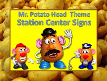 Mr. Potato Head Themed Station/Center Signs - Great for Cl