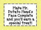Mr. Potato Head Whole Class Incentive
