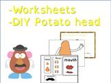 Mr Potato Head: body parts