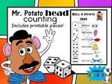 Mr. Potato Head counting roll dice to build