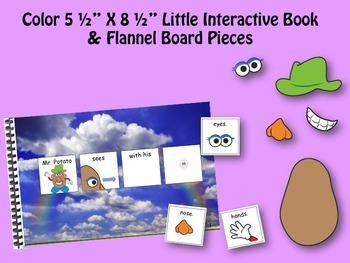 Mr. Potato has 5 senses INTERACTIVE STORY BOOK & Little Interactive Book