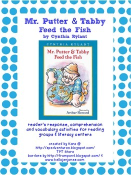 Mr. Putter & Tabby Feed the Fish Literature Study Packet