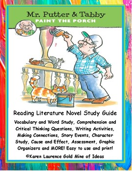 Mr. Putter & Tabby Paint the Porch Rylant ELA Primary Novel Reading Study Guide