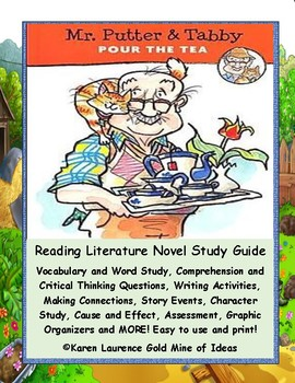 Mr. Putter & Tabby Pour the Tea Rylant ELA Primary Novel Study Teaching Guide