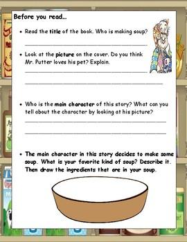 Mr. Putter & Tabby Stir the Soup Rylant ELA Primary Novel Study Reading Guide