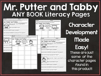 Mr. Putter and Tabby Any Book Literacy Pages