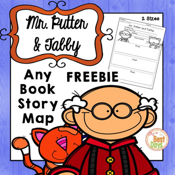 Mr. Putter and Tabby Any Book Story Map FREEBIE!
