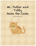 Mr. Putter and Tabby Bake the Cake comprehension questions