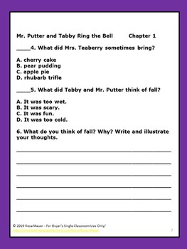 Mr. Putter and Tabby Book Units Bundle