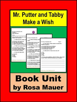 Mr. Putter and Tabby Make a Wish Book Unit