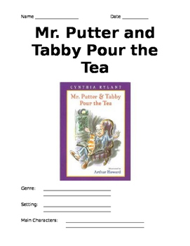 Mr. Putter and Tabby Pour the Tea- Comprehension Packet