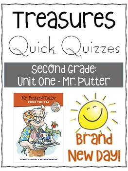 Mr. Putter and Tabby Pour the Tea Quiz - Treasures Grade 2