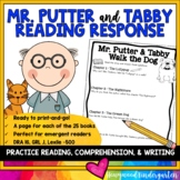 Mr. Putter and Tabby Reading Response Pages Comprehension Writing Book Study
