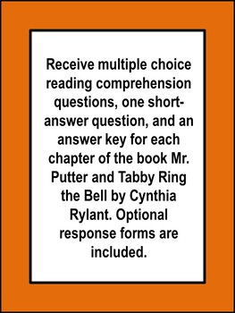 Mr. Putter and Tabby Ring the Bell Book Unit