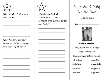 Mr. Putter and Tabby See the Stars Trifold - Wonders 2nd Grade Unit 3 Week 2