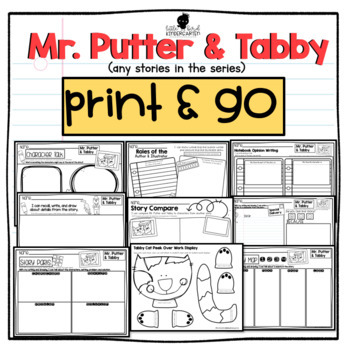 Mr. Putter and Tabby (all stories) Print & Go Story Companion & Writing Prompts