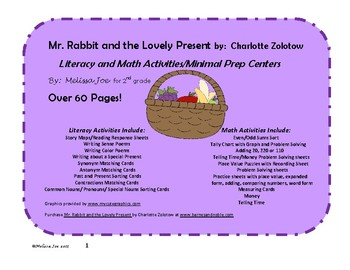 Mr. Rabbit and the Lovely Present-Literacy and Math Activities/Centers
