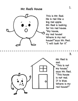 Mr Reds House Story in English & Spanish
