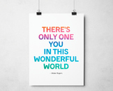 Mr Roger Poster, Inspirational Decor, There's Only You in This Wonderful World