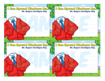 Mr. Rogers Cardigan Day | World Kindness Day Note Cards