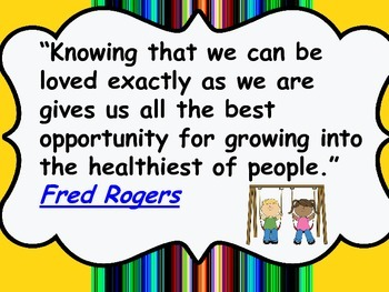 Mr Rogers Quote Worksheets Teaching Resources Tpt