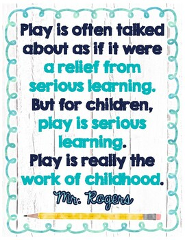 Mr Rogers Quotes By Primary Pearls Teachers Pay Teachers