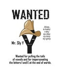 Mr. SLY Y- a writing aide poster