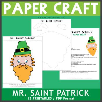 Mr. Saint Patrick Paper Craft