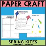 Spring Kites Paper Craft