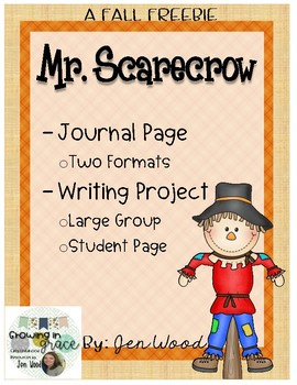 Mr. Scarecrow - FREE Journal Page & Writing Activity