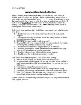 Mr. Shelton's Mourning Routine Essay-I