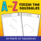 Mr Squiggle - Finish the Picture Creative Activity (26 Alp