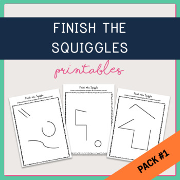 Mr Squiggle - Finish the Picture Creative Activity