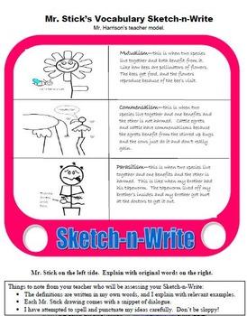 Mr. Stick Writer's Notebook/Journal Resources