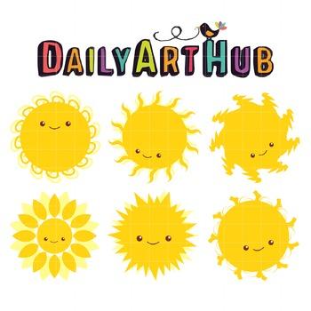 Mr Sun Clip Art - Great for Art Class Projects!