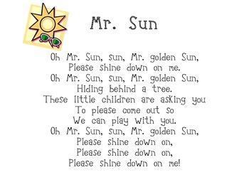 Mr. Sun Poem Poster