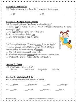 Mr. Tanen's Tie Trouble ~ Language Arts Workbook ~ 2nd Grade ~ Journeys