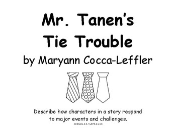 Mr. Tanen's Tie Trouble Lesson Plan + Supplementals Vocab Crossword 2nd Grade