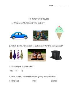Mr. Tanen's Tie Trouble Quiz