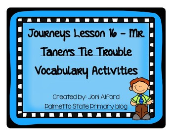 Mr. Tanen's Tie Trouble Supplemental Vocabulary Activities