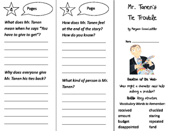 Mr. Tanen's Tie Trouble Trifold - Journeys 2nd Grade Unit 4 Week 1 (2011)